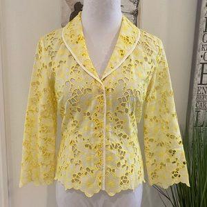 Rare Lilly Pulitzer White Label Open Lace Blazer